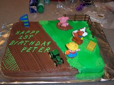 Peter's 1st Birthday Cake, Farm