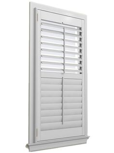 L Frame Outside Mount View For The Home Pinterest Wood Shutters Real Wood And Woods