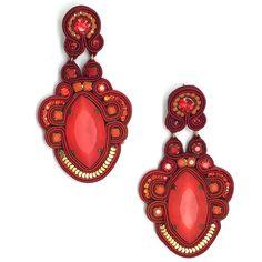 Gardenia Earrings - Red