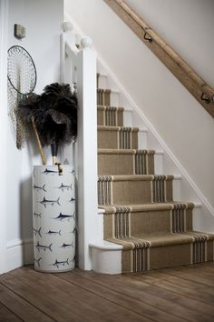 Dorset Cottage by Tim Baldwin, via Behance Carpet Staircase, Staircase Runner, Stair Runners, Staircase Ideas, Painted Wood Stairs, Dorset Cottages, Cottage Staircase, Cottage Style Decor, Cottage Ideas