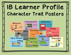 IB Learner Profile Posters, one for each trait with key words to support. #IB #LearnerProfile