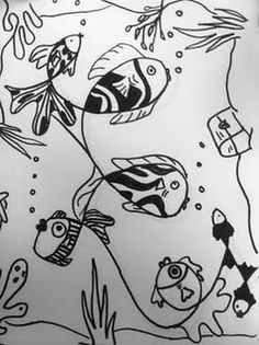 Loopy Line Fish- I love the black and white and how all projects will look completely different.