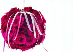 Create this rose-covered kissing ball to celebrate the season of love!