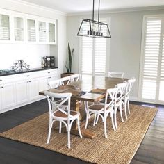 Hamptons Dining Table-Shop Online Furniture -Shipping Australian-wide – Henry & Oliver Co. Hamptons Style Decor, The Hamptons, Hamptons House, Hampton Furniture, Hamptons Living Room, Dining Table Chairs, Tables, Dining Rooms, Dining Area