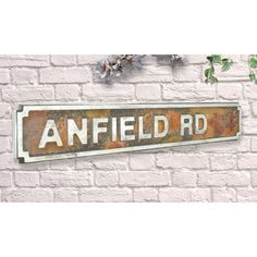 Metal Replica Football Street Road Signs & Stadium