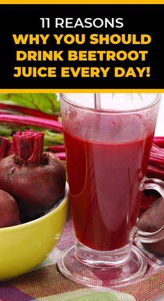 11 Reasons Why You Should Drink Beetroot Juice Every Day! Health Guru, Health Goals, Health Tips, Health And Wellness, Health And Beauty, Health Fitness, Natural Teething Remedies, Natural Cures, Herbal Remedies