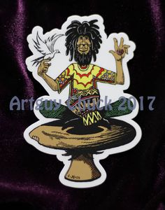 Ned Dread Shroomsitter  Sticker Porsche Logo, Dreads, Trippy, Stickers, Trending Outfits, Unique Jewelry, Logos, Handmade Gifts, Etsy