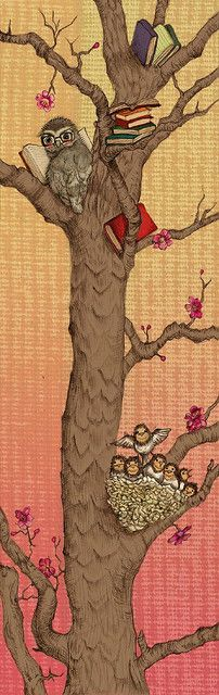 'Bookmark of the Little Owl and Little Swallows' by Jin-Shian Lee