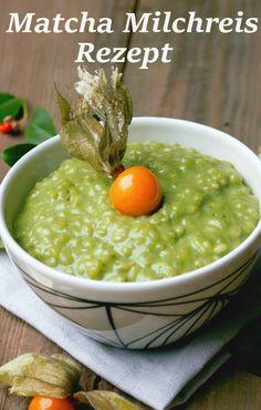 Green Rice Pudding with Matcha Tea - Matcha Tee passt super zu süßen Rezepten oder klassischen Desserts, wie dieser leckere Matcha Milchreis beweist. Rezept gibt's auf www.matcha108.de