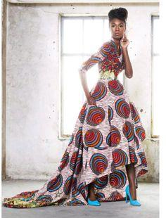 Hoch niedrig Afrikanerinnen gown von AFROCOLLECTION2015 auf Etsy