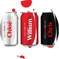 coke names on cans