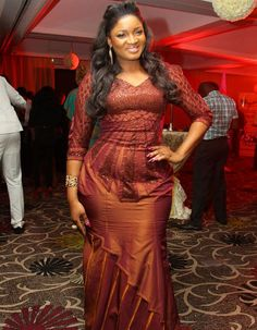 omotola jalade ekeinde | ... OMOTOLA JALADE EKEINDE DRESSED IN A SATIN WITH EMBELLISHMENT BY ICONIC