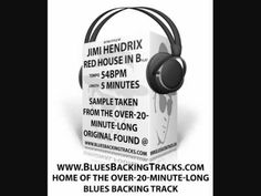 Jimi Hendrix Style Red House Blues Backing Track In Bb 56bpm
