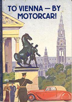 """""""Nach Wien im Auto,"""" 1936. Front cover"""
