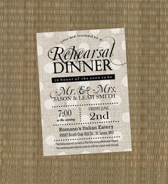 Diy Rehearsal Dinner Invitation Wording  Wedding Stuff
