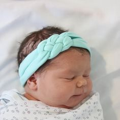 Adorable newborn headwrap - coming home outfit - topknot headwrap! Soft and doesn't leave marks! www.hollyblossoms.etsy.com