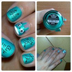 Totoro nails by shortnailslove