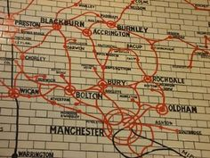 tiled Lancashire and Yorkshire Railway map, in Victoria station manchester British Rail, British Isles, Manchester Travel, Midland Hotel, Rochdale, Manchester England, Northern England, Salford, Train Station