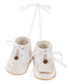 Look what I found on #zulily! Personalized November Birthstone Baby Booties Ornament Set #zulilyfinds