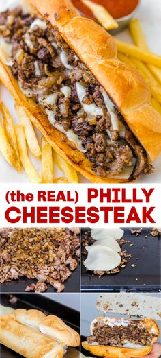 Feb 2020 - Philly Cheesesteak with tender ribeye steak, melted provolone, and caramelized onion in a garlic butter roll. Easy Philly Cheesesteak Sandwich video how-to. Steak Sandwich Recipes, Deli Sandwiches, Steak Recipes, Cooking Recipes, Dinner Sandwiches, Steak Cheese Sandwich, Philly Cheese Steak Seasoning, Philly Cheese Steak Sandwich Recipe Easy, Baguette