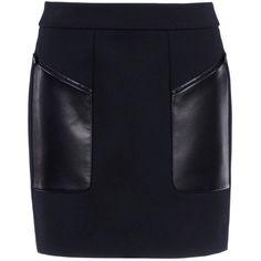 Barbara Bui Skirt ($310) ❤ liked on Polyvore featuring skirts, mini skirts, black, leather mini skirt, zipper skirt, leather miniskirt, barbara bui and short mini skirts