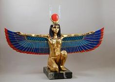 Winged Isis- wife of Osiris, mother of Horus