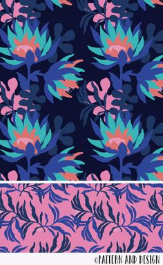 Pattern and Design. Learn to create surface pattern designs - - Pattern and Design. Join for access to resources, tutorials and inspirations for creatives; Textile Patterns, Textile Design, Fabric Design, Print Patterns, Floral Patterns, Flower Pattern Design, Surface Pattern Design, Pattern Designs, Adobe Illustrator