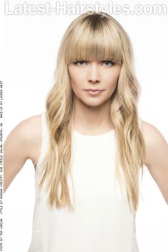Long Simple Hairstyle with Bangs