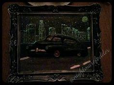 Nearly finished, had to paint my city glowing in the background  #nightmarefodder #mercury #merc #classic #classiccar #modifiedcars #murk #sculpture #gangsta #art #artist #1950 #losangeles #carclub #tattooart #animation #arte #la #uk #lowrider #artsdistrictla #automobile #automotive #lowriderarte #contemporaryart #lowridermagazine #carshow #dtla #1950mercury #lasvegas @sculpey_polyform