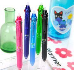 Multicolor Pens - Pilot FriXion 3-Color Retractable Erasable Pen   CoolPencilCase.com