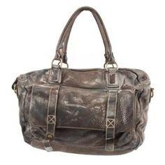 Lederhandtasche vintage used - Look braun