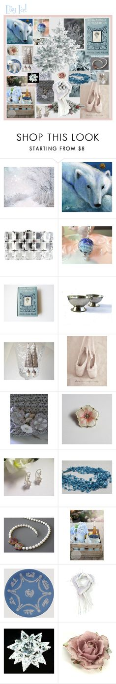 """Etsy Ice!"" by anna-ragland ❤ liked on Polyvore featuring Chanel, Augusta, Aksel, Wedgwood, Monsoon, contemporary and vintage"