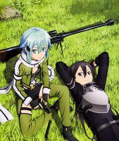 Sinon & Kirito (Gun Gale Online) | Sword Art Online