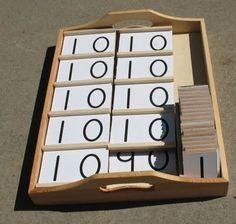 DIY Montessori materials from the Maybe Montessori blog.