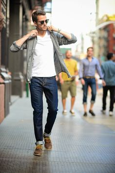 You were saying about layering shirts like this before.. this would look cool. When layering, it's good to stick to solids (or more minimalist patterns)