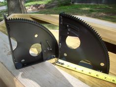 Recycled flywheel gear shelf brackets...