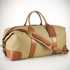 Shop for Canvas & Leather Weekend Bag by Polo Ralph Lauren at ShopStyle. Canvas Duffle Bag, Tote Bag, Duffel Bags, Leather Luggage Tags, Canvas Leather, Fashion Bags, Men's Fashion, Leather Men, Leather Bags