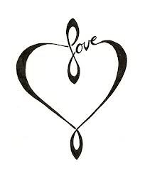 Infinite love heart tattoo. But I kinda wanna put it on my wall, not my skin. With maybe a cross in the middle.