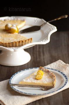 Cumquat and almond tart