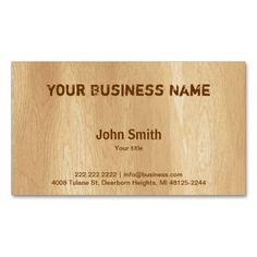 Psychologist wood grain look double sided standard business cards simple timber business card reheart Choice Image