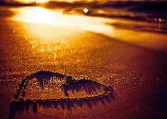 Serce, Plaża, Piasek