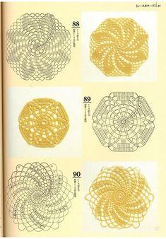 from 200 crochet patterns Crochet Diy, Crochet Books, Thread Crochet, Irish Crochet, Crochet Motif, Crochet Crafts, Crochet Doilies, Crochet Flowers, Crochet Stitches