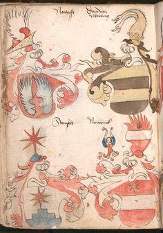 Wernigeroder (Schaffhausensches) Wappenbuch Süddeutschland, 4. Viertel 15. Jh. Cod.icon. 308 n  Folio 114v