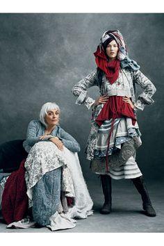 Natalie Chanin   -- textile designer Natalie Chanin  with model Karlie Kloss.