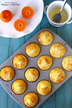 Fresh Orange Muffins With A Zesty Orange Glaze. Use sweet oranges in season now for fresh, delicious tasting muffins. I used low fat Greek yogurt and oil, no butter. Citrus Recipes, Yogurt Recipes, Baking Recipes, Orange Recipes Baking, Orange Recipes Healthy, Baking Breads, Thm Recipes, Muffin Recipes, Drink Recipes