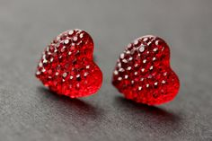 Red Heart Earrings. Silver Heart Earrings. Post Earrings. Sparkle Heart Earrings. Stud Earrings. Handmade Earrings. Handmade Jewelry. by StumblingOnSainthood from Stumbling On Sainthood. Find it now at http://ift.tt/1qa1Qjd!