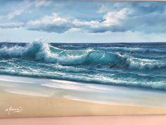 Ocean Scenes, Beach Scenes, Ocean Art, Ocean Waves, Ocean Drawing, Ocean Photography, Seascape Paintings, Pictures To Paint, Beach Art