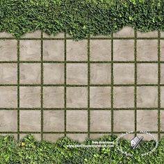 path grid, with green overgrowth on 2 sides. Paving Texture, Parquet Texture, Tiles Texture, Landscape Architecture Design, Landscape Plans, Photoshop, Paver Blocks, Concrete Paving, 3d Architectural Visualization