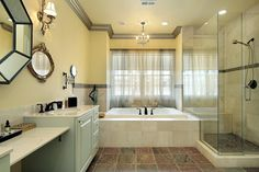 Massive photo gallery of custom bathroom design ideas of all types, sizes and color schemes. Bathroom With Shower And Bath, White Master Bathroom, Wood Bathroom, Spa Shower, Shower Door, Bathroom Design Luxury, Modern Bathroom Design, Bathroom Designs, Bathroom Ideas