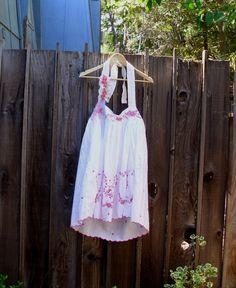 Funky Halter Dress/ Eco Fashion Shabby Chic Cotton by KheGreen, $38.00